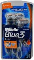 Gillette Blue 3 Wegwerpmesjes  3 st.