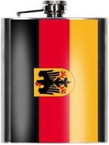 Heupfles Duitse vlag 200 ml - Duitsland heupflacon