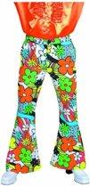 Hippie Kostuum   Hippie Flower Power Broek Man   XL   Carnaval kostuum   Verkleedkleding