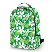 Laptop rugzak 17,3 Deluxe bloemen wit - Sleevy - schooltas