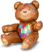 Folieballon Happy Birthday Bear MultiBal