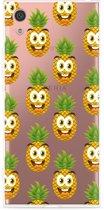 Sony Xperia XA1 Hoesje Happy Ananas