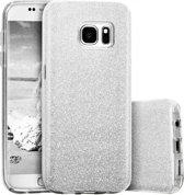 Samsung Galaxy S7 Hoesje - Glitter Backcover - Zilver