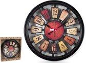 XL Wandklok Retro Vintage-stijl quartz-mechanisme 30 cm – Klokken – Tijd – Decoratie - Woonaccessoires
