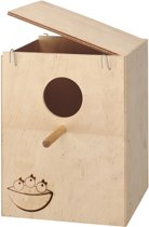 Ferplast houten vogelhuisje/vogelnest nido extra groot