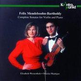 Mendelssohn: Complete Violin Sonatas / Westenholz, Madojan