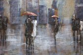 80x120 Rainy day in the city
