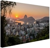 Rio de Janeiro in de ochtend Canvas 60x40 cm - Foto print op Canvas schilderij (Wanddecoratie)
