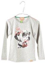 Funky XS-meisjes-shirt/longsleeve-Too Funky-kleur: grijs-maat 86/92