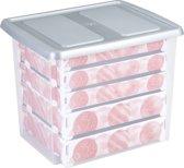 Sunware Nesta Kerst Opbergbox 45L - met plat deksel - trays voor 101 kerstballen