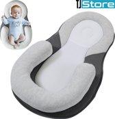 TJ Store® Grey Medisch aanbevolen baby nestje - baby nestje - baby nestjes - draagbaar baby nestje - baby kussen - baby slaapkussen - slaapkussen - baby matras - baby slaapmatras - baby kinderwagen kussen - baby slaap kussen - baby gezondheid