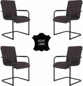 Feel Furniture - Seal stoel set 4 - Donker Bruin