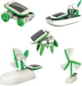 Zonne-energie 6 in 1 Toy Kit DIY Educatief Robot Auto Boot Hond Fan Plane Puppy