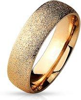 Ring Dames - Heren Ring - Rosé Goudkleurig - Goud Kleur - Ring Met Opvallend Motief - Sparkle
