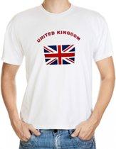 Wit t-shirt United Kingdom voor heren L