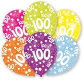 Amscan Ballonnen 100 Jaar 6 Stuks 28 Cm