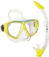 Aqua Lung Sport Oyster LX + Veracruz - Snorkelset - Volwassenen - Geel