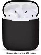 siliconen hoesje case geschikt voor Apple Airpods - beschermhoesje - Zwart