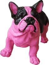 Franse Bulldog Zwart roze 38 cm