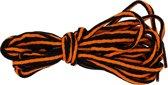 4 Schoenveters 90cm Lang 5mm Breed - Oranje & Zwart