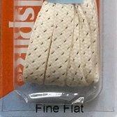 5.5mm x 75cm Plat Party Creme Goud Smalle platte schoenveter  60_9934