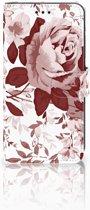 Xiaomi Mi A2 Lite Uniek Boekhoesje Watercolor Flowers