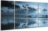 Glas schilderij Zee | Blauw | 160x80cm 4Luik | Foto print op Glas |  F006449