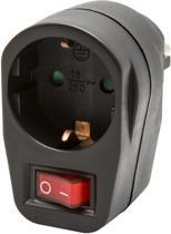 Allteq - Stopcontact schakelaar - Zwart