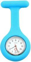 Treasure Trove® Zachtblauw Siliconen Verpleegstershorloge - Zuster Verpleegster Horloge - 35mm - Heren - Dames
