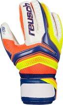 Reusch Serathor SG Finger Support  Keepershandschoenen - Maat 9  - Unisex - wit/blauw/geel/oranje