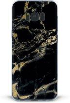 Samsung Galaxy S8 Plus zwart/goud marmer hoesje