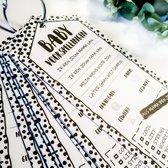 Invulkaarten Babyshower - 35 stuks (Babyshower voorspellingskaarten)