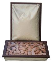 L-line by Jis Laptray, Schoottafel, schootkussen, laptoptafel, dienblad met kussen Wijnkurken  - 32,5 x 43 cm