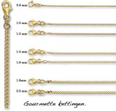 Gouden gourmette ketting 4016336 - 40cm