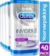Voordeelverpakking Durex Invisible 40 condooms | Extra dunne condooms met extra glijmiddel