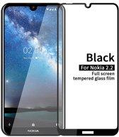 Nokia 2.2 - Full-Cover Tempered Glass - Zwart