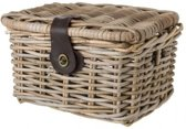 FastRider Fietsmand Junior - Rotan - Klep - 8 liter - Naturel