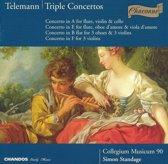 Telemann: Triple Concertos / Standage, Collegium Musicum 90