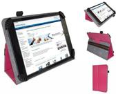 Fold up hoesje voor Ac Ryan Tab 7.2 Dual Core , Kleur Hot Pink , merk i12Cover