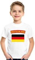 Duitsland t-shirt met Duitse vlag wit kinderen XS (110-116)