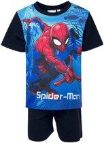 Spiderman shortama 98cm Blauw