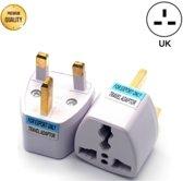 TravelBuddy Reisstekker – EU naar UK - Type G - Engeland - Verenigd Koninkrijk - Afrika - Dubai - Universele reis stekker - Plug - Reis Verloopstekker - Wereldstekker - Oplader - Adapter - Wit