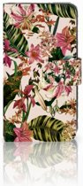 Motorola Moto C Uniek Boekhoesje Flowers