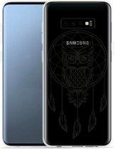 Galaxy S10 Hoesje Dream Owl Mandala Black