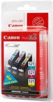 Canon CLI-521C/M/Y - Inktcartridge / Cyaan / Magenta / Geel