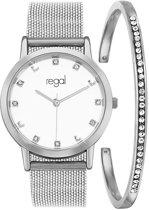 Regal - Regal mesh sparkle dames cadeauset zilverkleurig