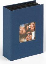 Walther Fun - Fotoalbum insteek - 100 foto's 10x15 cm - Blauw - Linnenstructuur