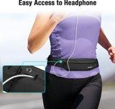 Heupband Running Belt  - ESR  - Hardloopband Sportband Riem met Smartphone Houder – Universeel voor alle telefoons onder andere geschikt voor Apple iPhone X, Samsung Galaxy S9 PLUS & Huawei P20  – kleur Zwart & UNIVERSEEL
