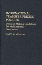 International Transfer Pricing Policies