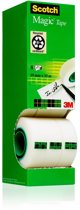 Value Pack: 7 x Scotch® Magic™ Tape, Kartonnen Toren, 19 mm x 33 m + 1 Rol GRATIS